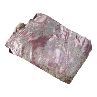 Vintage Mauve Satin Damask Fabric 7 Yd For Sale