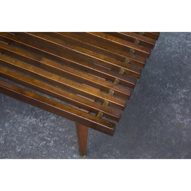 Mid-Century Slat Bench Coffee Table - Image 4 of 4