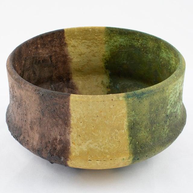 Ceramic Marcello Fantoni Yellow, Green and Burgundy Ceramic Bowl, Circa 1970s For Sale - Image 7 of 13