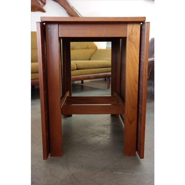 Danish Modern Teak Gate Leg Drop Leaf Dining Table For Sale - Image 4 of 6