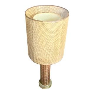 1960s Vintage Gruvwood Walnut Table Lamp