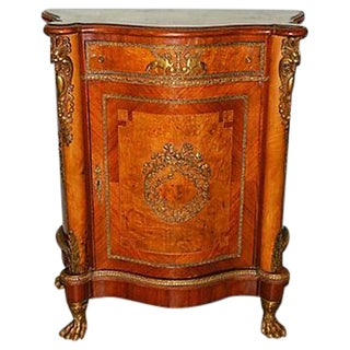 Antique Inlaid French Empire Revival Cabinet