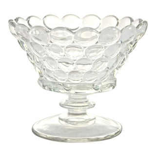 Bubble Glass Pedestal Bowl For Sale
