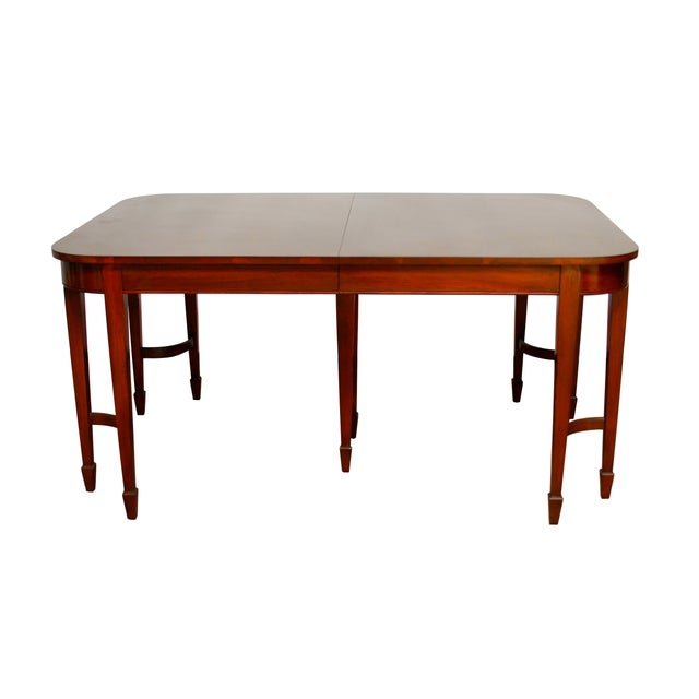 Hepplewhite Federal Double Leg Dining Table - Image 1 of 7