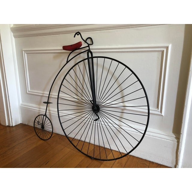 Contemporary 1980s Curtis Jere Bicycle 'Highwheeler' Signed Table / Wall Sculpture For Sale - Image 3 of 13