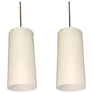 Danish Mid Century Pendants by Erik Moller for Louis Poulsen - a Pair For Sale