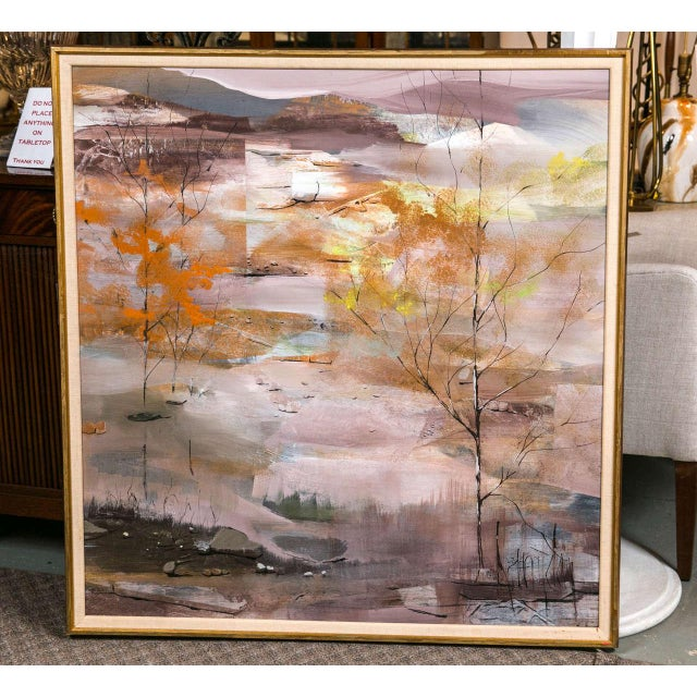 1960s Abstract Landscape Painting For Sale - Image 4 of 4