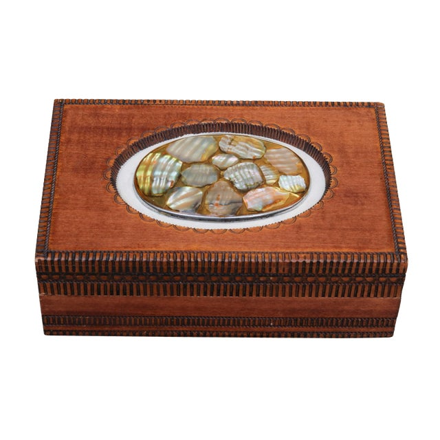 English Trinket Box by Cash's of Coventry For Sale