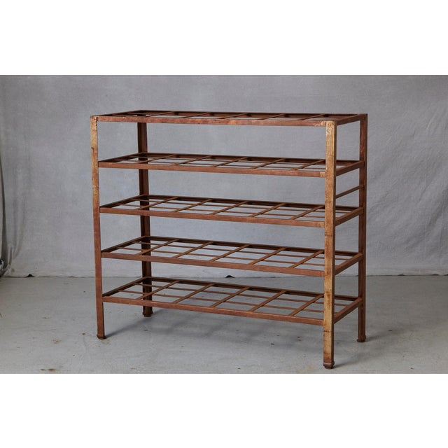 Industrial 5 Tier Shelf With Grid Shelves for Books or Usage as Seedling Planter For Sale - Image 4 of 11