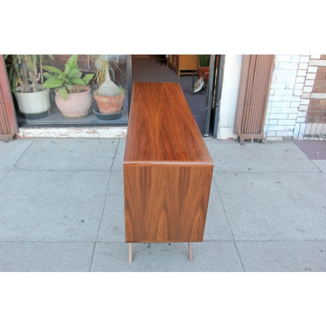 Mid-Century Walnut Credenza For Sale - Image 10 of 12