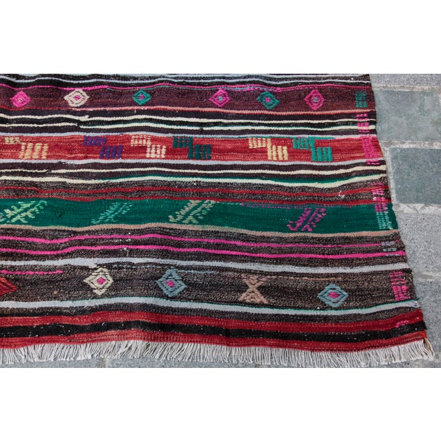 Textile Turkish Kilim Rug - 8' 8'' X 5' 10'' For Sale - Image 7 of 11