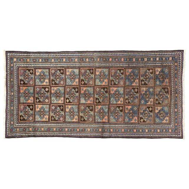 Textile Vintage Shiraz Persian Rug with Mid-Century Modern Style For Sale - Image 7 of 8