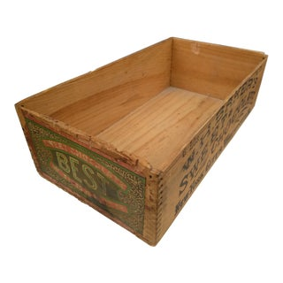 Early 20th Century Original Chocolate Wood Box For Sale