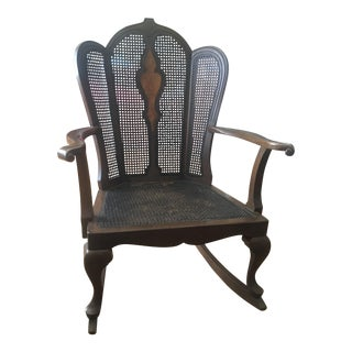 1920's Michigan Chair Company Victorian Wicker Rocking Chair