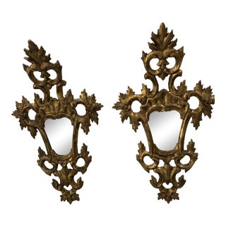 Gilded French Rococo Mirrors - a Pair For Sale