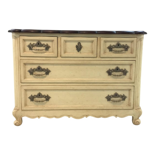 French Country Style Cream Normandy Chest By: Hickory Chair For Sale
