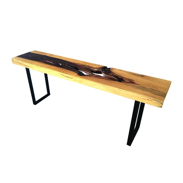 Tamarind Slab Console Table For Sale - Image 4 of 4