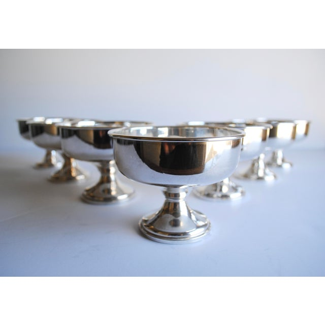 Beautiful sterling silver sherbet / dessert cups. Set of eight. Made by Preisner. Excellent condition. Gorgeous gift, and...