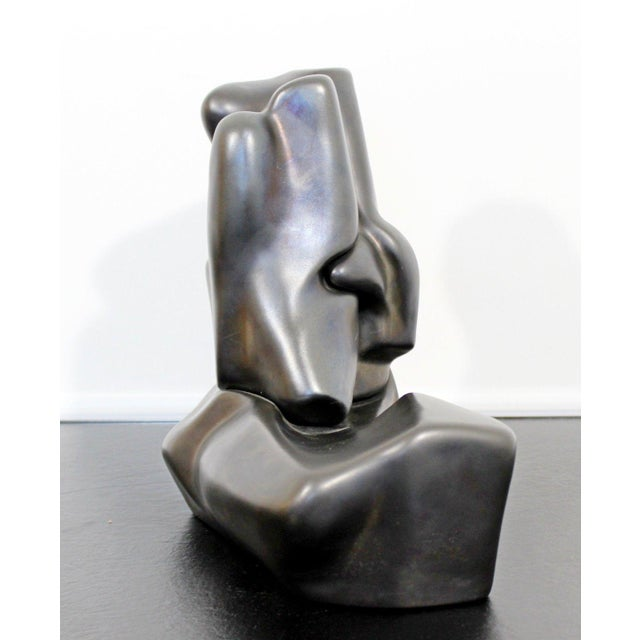 Mid-Century Modern Contemporary Signed Abstract Table Sculpture F. Calderon 1991 10/50 For Sale - Image 3 of 8