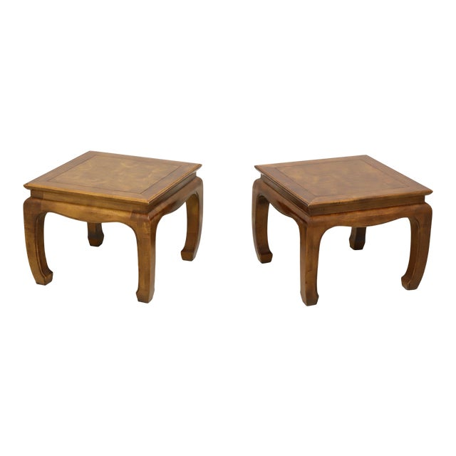 Century Chin Hua Raymond Sobota Asian Chinoiserie Ming Cocktail Tables - Pair For Sale