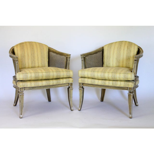 Caned Barrel Chairs - A Pair - Image 3 of 11