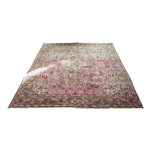 """Vintage Persian Area Rug - 6'5"""" x 9'3"""" - Image 1 of 11"""