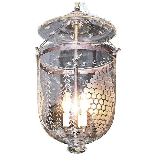 Apothecary Etched Glass Fixture - Image 1 of 7