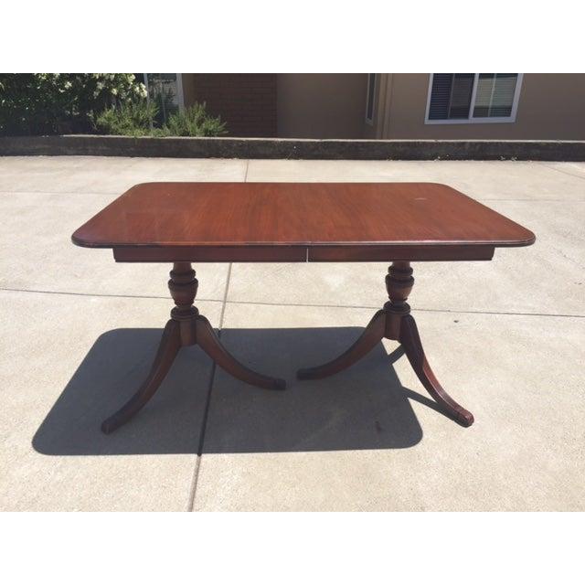 1940s Expandable Mahogany Dining Table