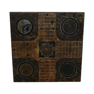Antique 19th Century Slate Parcheesi Game Board For Sale