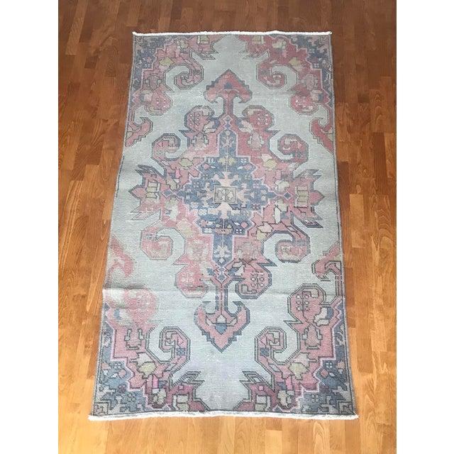 "Turkish Anatolian natural dye Rug. ORIGIN : Region of Anatolia (TURKEY) MATERIAL : 100% hand spun organic wool SİZE : 3'7""..."