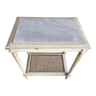 19th Century Shabby Chic Marble Top Side Table For Sale