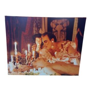 """1992 Photograph """"The Banquet"""" of Hunter Reynolds & Chrysanne Stathacos 49"""" For Sale"""