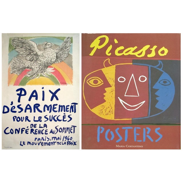 Bundle- 2 Assorted Pablo Picasso Lithograph & Reference Book For Sale