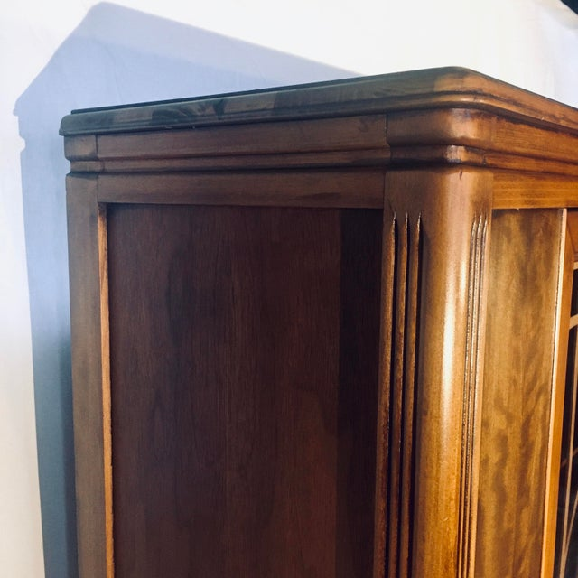 """Art Deco Exotic Woods 35"""" China Cabinet/Bookcase For Sale In Baltimore - Image 6 of 13"""
