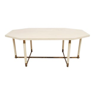 Maison Jansen Octagonal Leather Dining Table For Sale