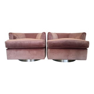 Low Profile Vintage Swivel Chairs
