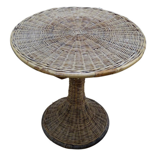 Wicker Accent Table - Image 1 of 4