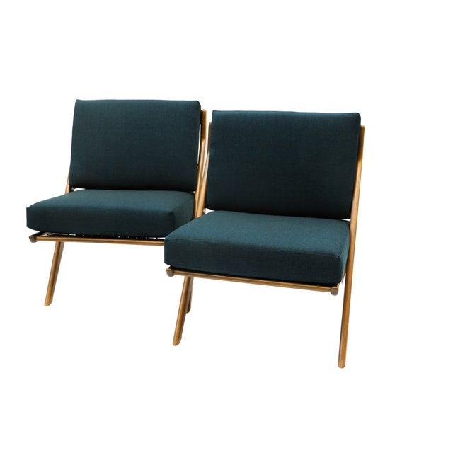 Pair Folke Ohlsson Dux Scissor Lounge Chair - Image 3 of 10