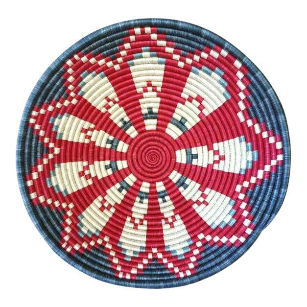 African Basket / Rwanda Baskets/ Woven Basket/ Sweet Grass and Sisal/ Boho| Wall Hanging Basket| Fruit Basket - Image 1 of 5