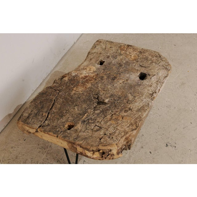 Metal Rustic Custom-Made Coffee Table of Old Natural Coffee Table For Sale - Image 7 of 8
