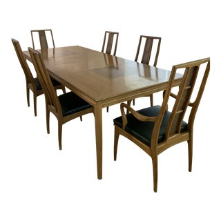 Mid Century Dining Set From John Stuart - 7 Pieces For Sale