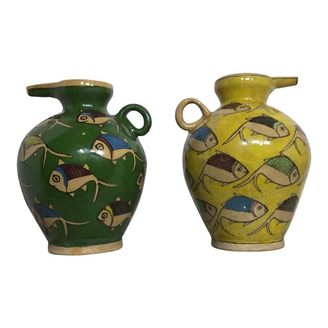 Vintage Persian Ceramic Vessels - A Pair - Image 1 of 11