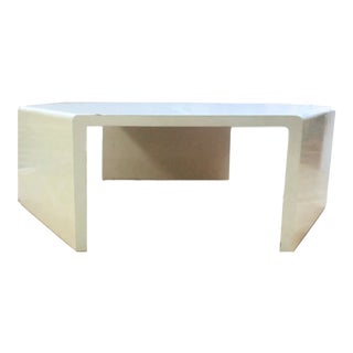 1980s Vintage Parsons Waterfall Style Hexagon Coffee Table For Sale