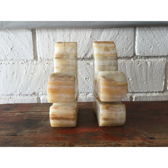 Carved Onyx Bookends - A Pair - Image 3 of 7