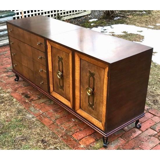 Mid Century Renzo Rutili for Johnson Furniture Modular Cabinet Grouping 1950's For Sale - Image 11 of 12
