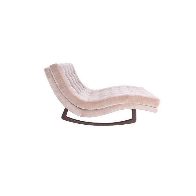1960s Adrian Pearsall Rocking Chaise Lounge With Walnut Base For Sale - Image 5 of 6