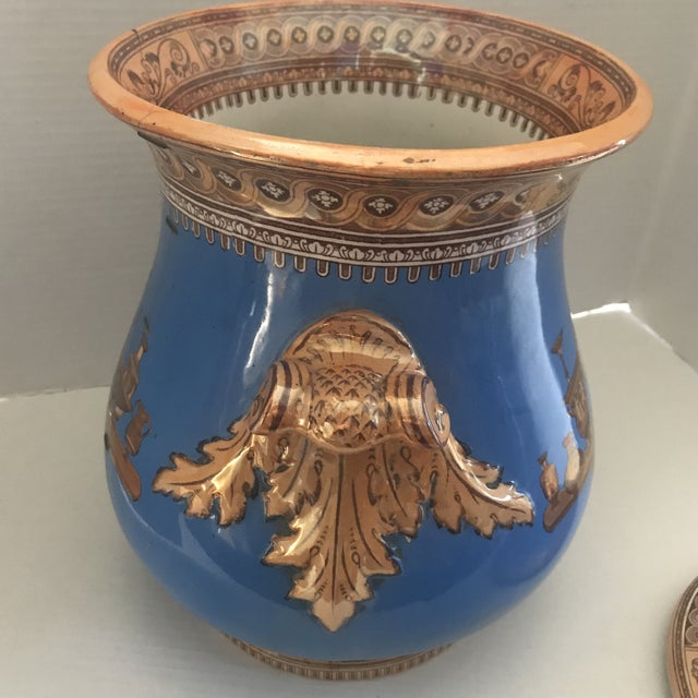 Late 20th Century Striking Lusterware Cover Urn For Sale - Image 5 of 13
