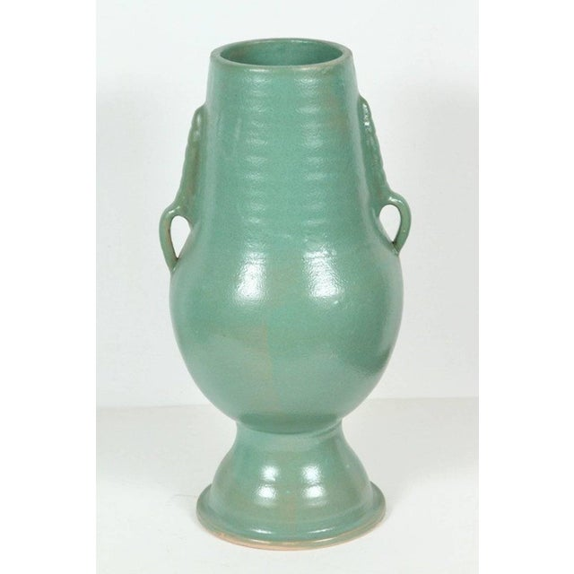 Ceramic Moroccan Turquoise Handcrafted Ceramic Vase For Sale - Image 7 of 7