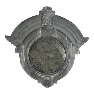 19th Century French Zinc Oeil De Boeuf, Bull's Eye Dormer Window Mirror For Sale