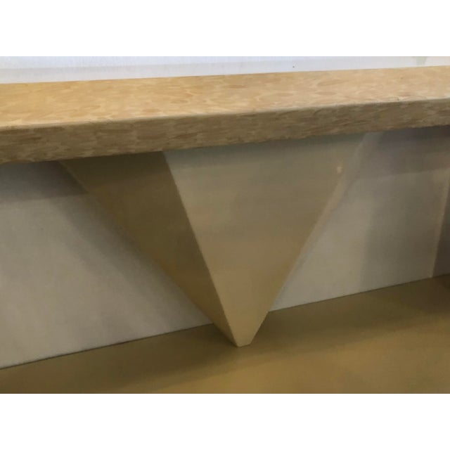 Antler Vintage Bone Brass Console Table and Wall Mirror Set For Sale - Image 7 of 13